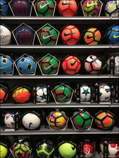 Wall of Balls Sporting Goods Merchandising